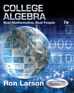 College Algebra: Real Mathematics, Real People 7e