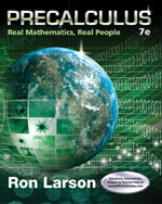 Precalculus - Real Math Real People 7th Edition