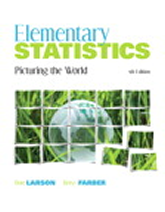 Elementary Statistics: Picturing the World 5e